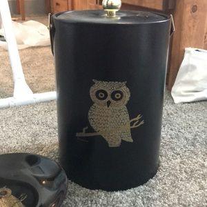 Owl Ice Bucket and Plate